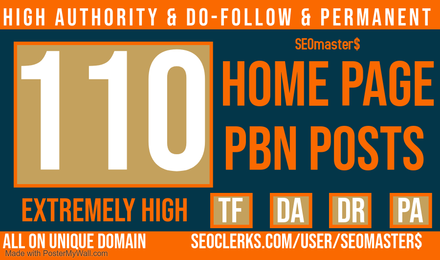 110 PBN Posts Homepage High Authority and Do Follow Backlinks For all website ranking - SEO services