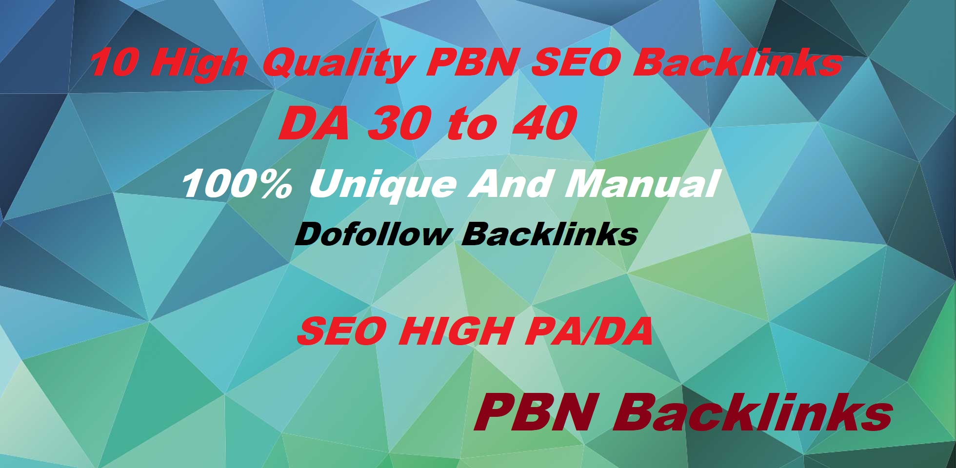 Build 10 High DA 20 To 50+ PBN Homepage High Quality Backlinks