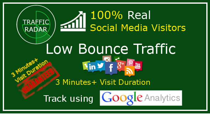 drive low bounce traffic with 3 minutes visit duration