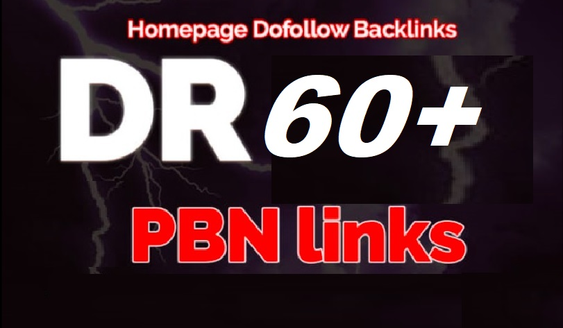 Build 4 Permanent DR 60+ Homepage PBN Dofollow PBN Backlinks