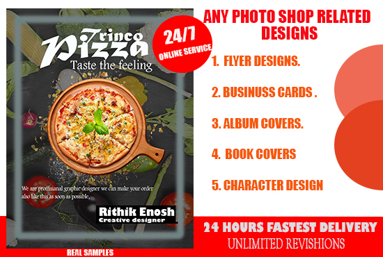 I will design attractive flyer,brochure,album cover,logo designs