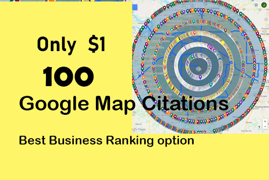 Do 100 google map citations for local SEO