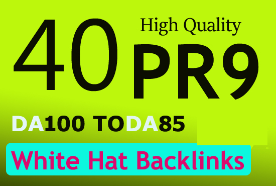 Create unique 40 pr10 pr9 high authority backlinks for $5