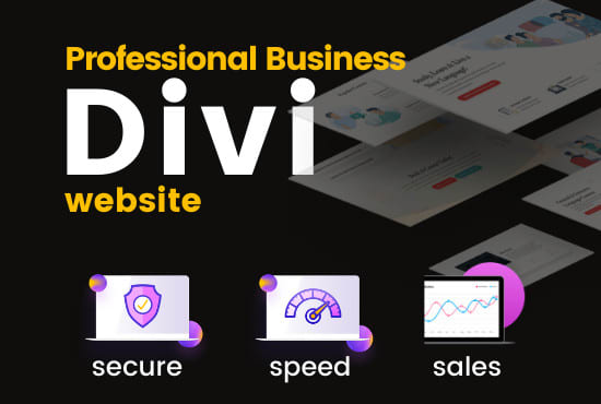 I will make professional responsive divi wordpress website