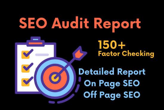 I will provide you detailed website audit report,  SEO audit