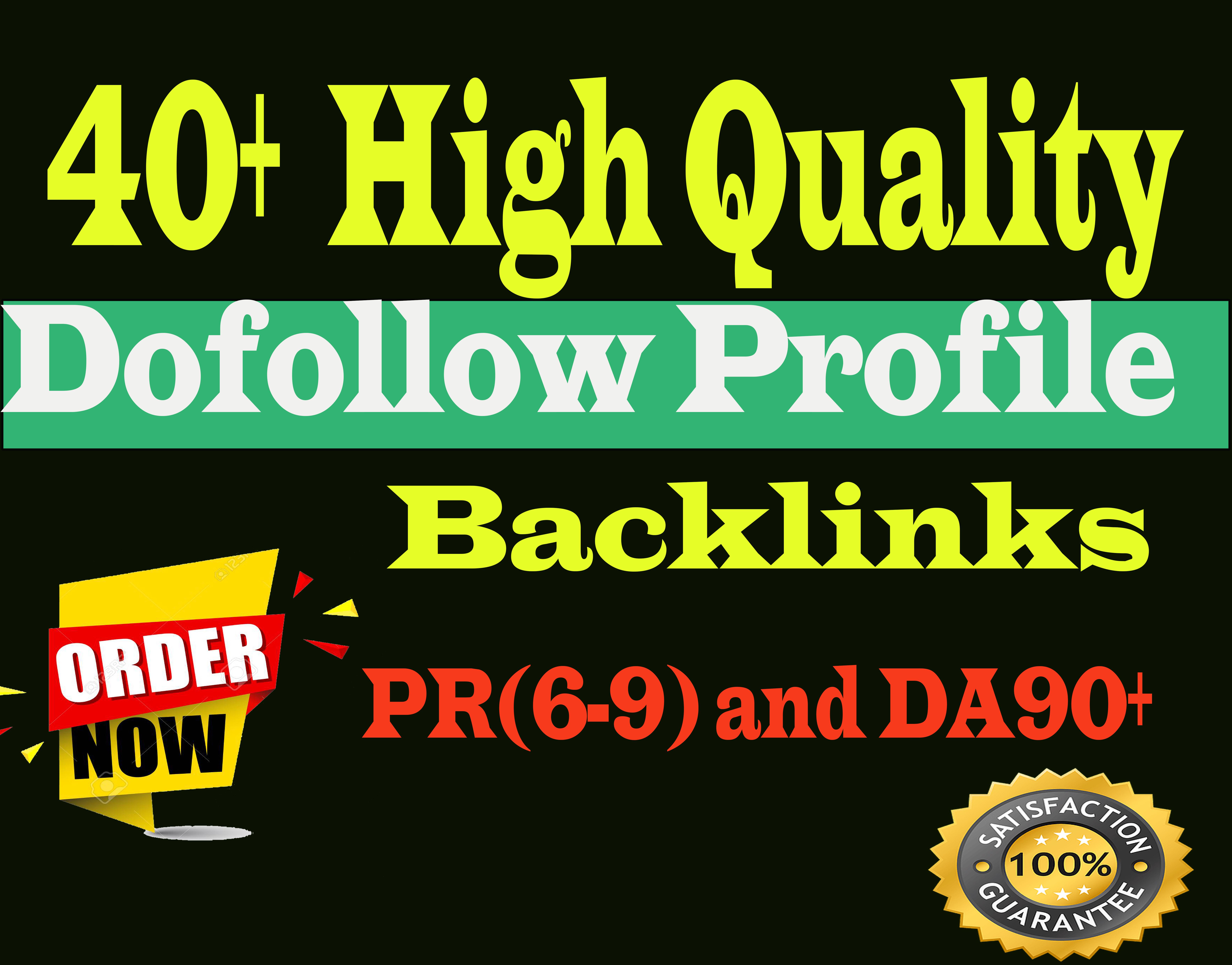Manully create 40+ high quality DA90 and Pr9 dofolow profile backlinks