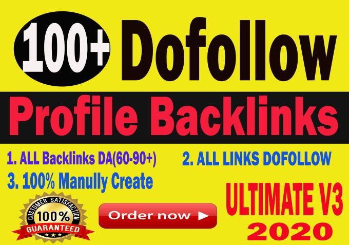 Create 100+ DA90+ high authority Dofollow profile Backlinks