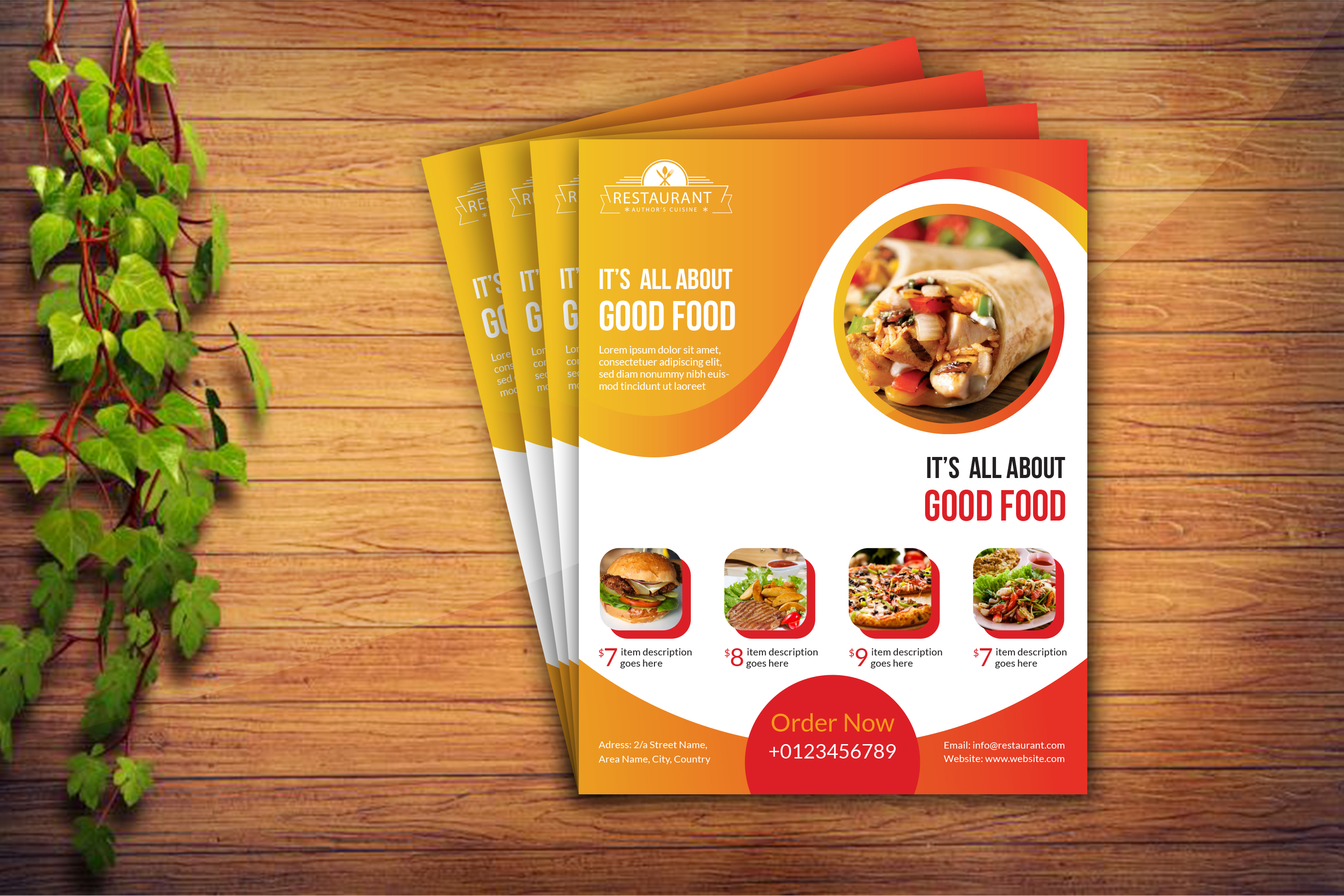 I will do creative flyer,  brochure,  trifold design