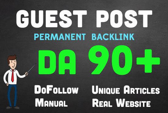 Manually Write & publish Guest blog on da 90+ high authority blogs with quality backlinks