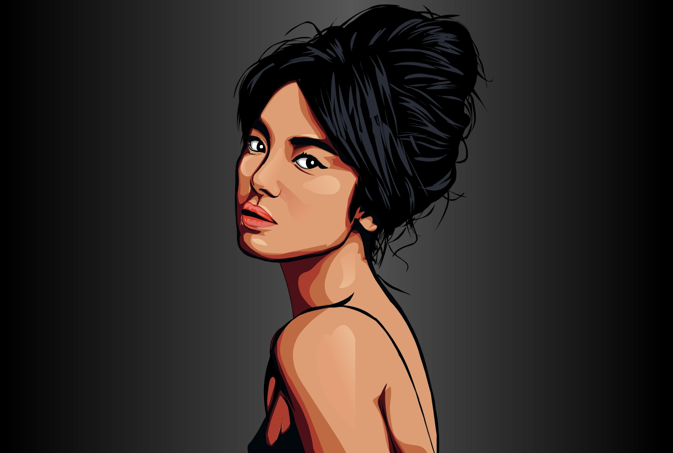 I will draw realistic cartoon vector portrait image of you
