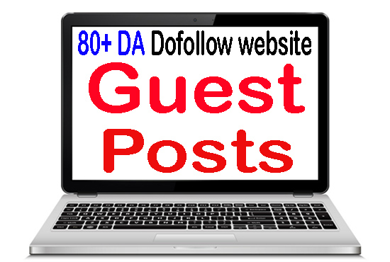 Write and Publish 3 guest post on 80 plus DA SEO Strong backlinks