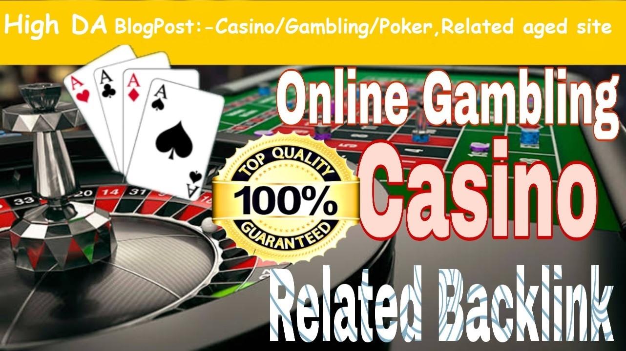 Provide You 150 High DA 30-50 Casino,  Gambling,  Poker, Betting Related PBNs.