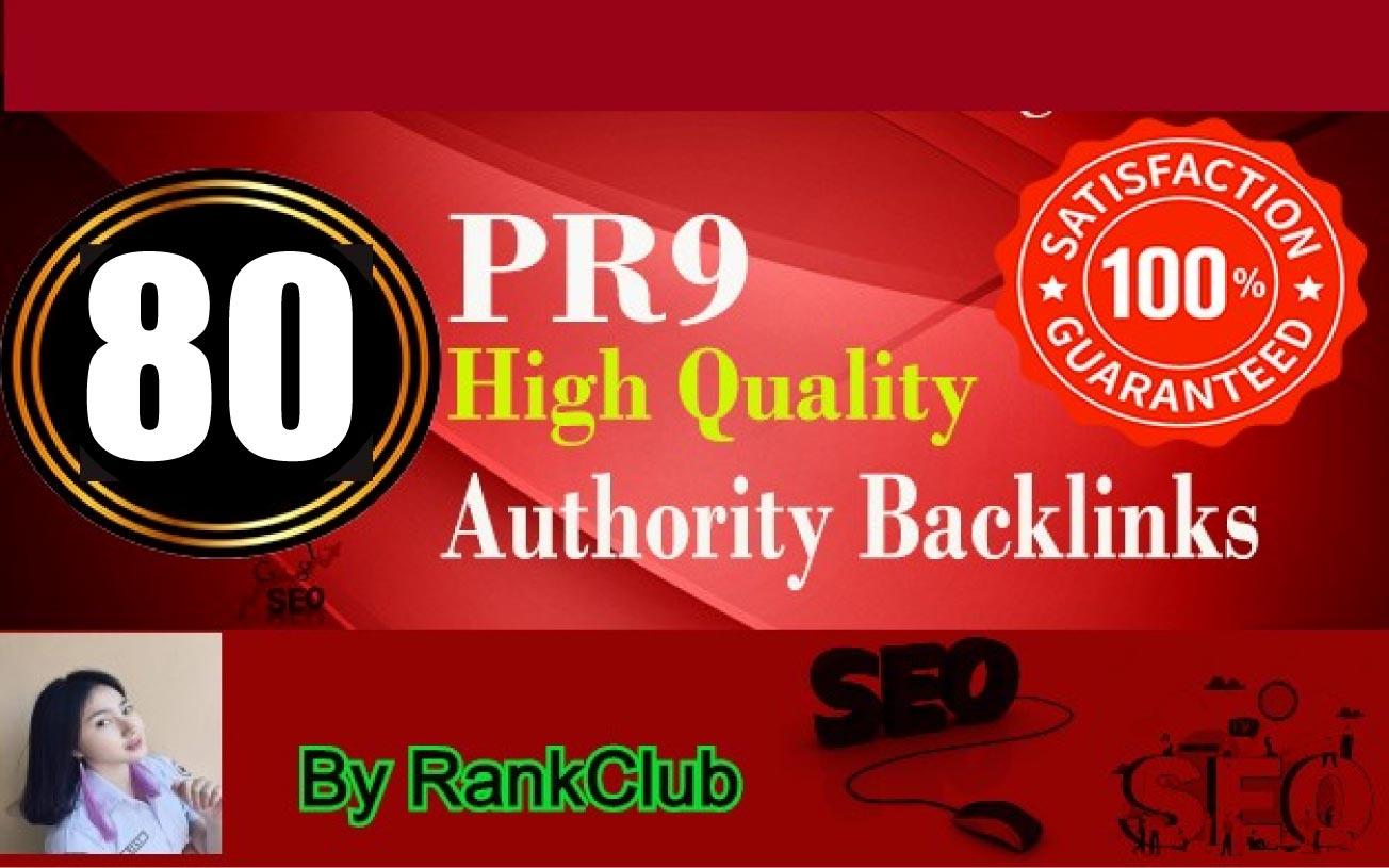 90+ DA Safe SEO 80 PR9 Backlinks Manually Create Helps to Top Rank First