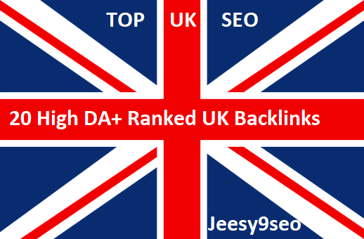 Create manually 20 UK high da and alexa backlinks