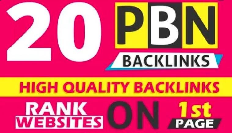 Create manual 20 high DA 25plus homepage PBN do-follow backlinks
