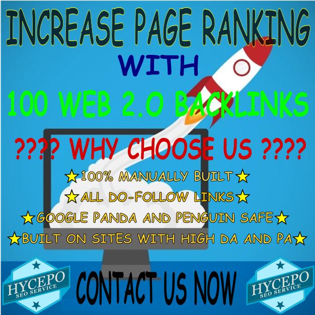 High Quality Web 2.0 Backlinks SEO