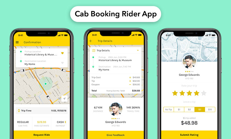 Building Taxi booking app solution