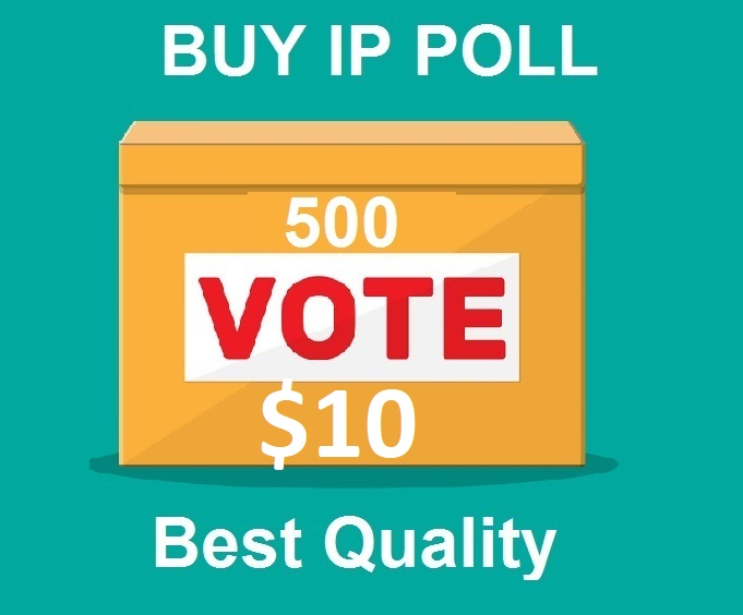 500 Different ip votes on your contest polls