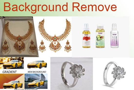 I will remove background from 15 image by Photoshop