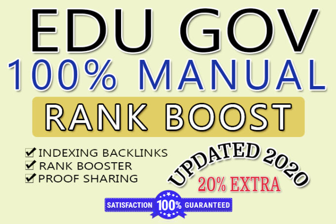 Create 50 highly anticipated domain seo friendly edu gov backlinks