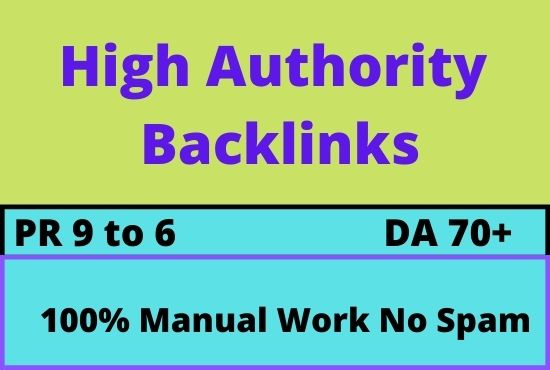 Create manually 200 high authority seo backlinks with high da pa