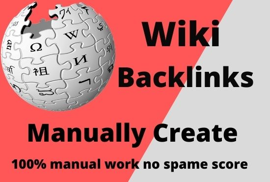 Create manually 40 wiki backlinks high quality