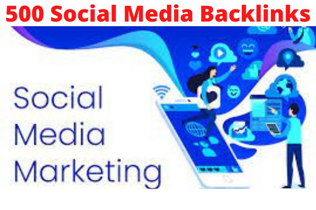 I will do 500 social media profiles for high DA30+ pr SEO backlinks