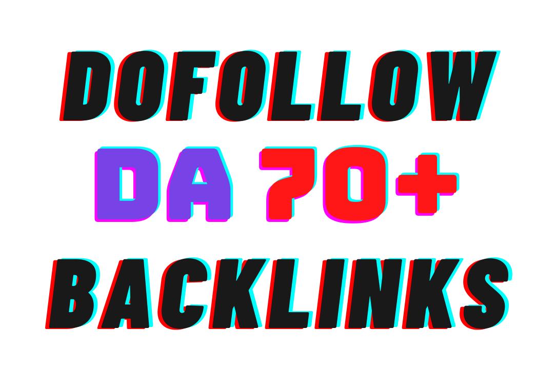 I will 200 Manually DA 70+ dofollow HQ backlinks google rank