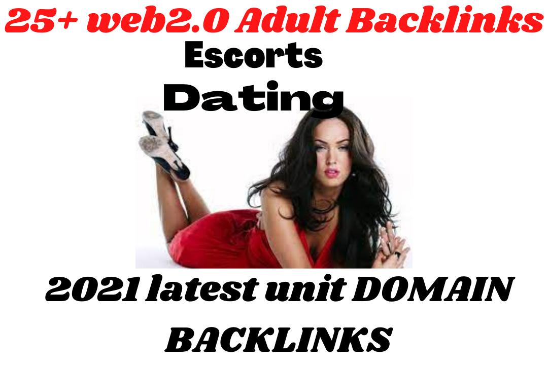 18+25 WEB2.0 ADULT SITE/ escorts/ dating 2021 latest Backlinks