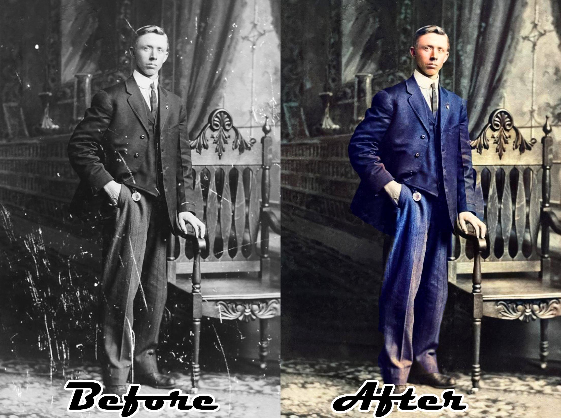 I will restore photo color,  colorize,  fix,  restore old image