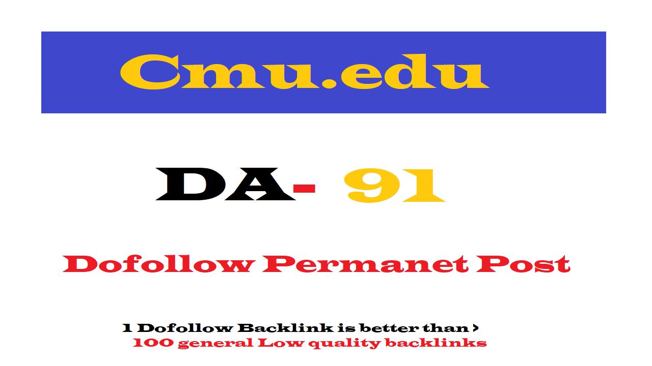 Permanent edu Guest Post on Cmu. edu DA91