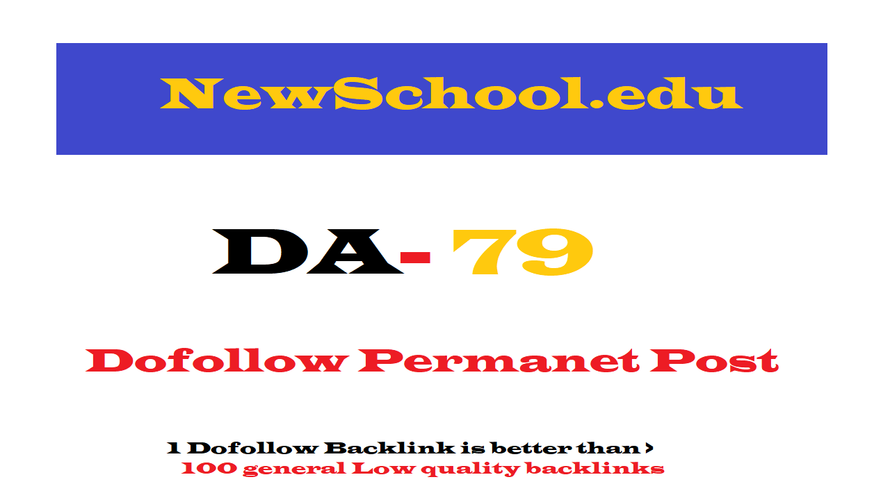 Permanent Guest Post on Newschool.edu DA79