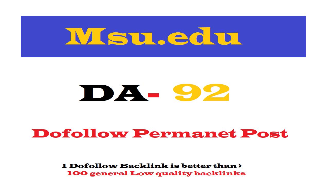 Permanent Guest Post on Msu. edu DA92