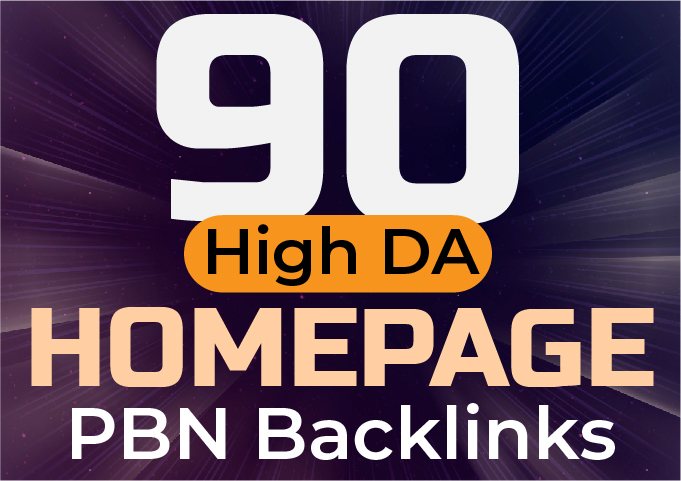 Get 90 HIGH DA PA 60+ CF TF 30+ HOMEPAGE PBN Backlinks - Authority Hack