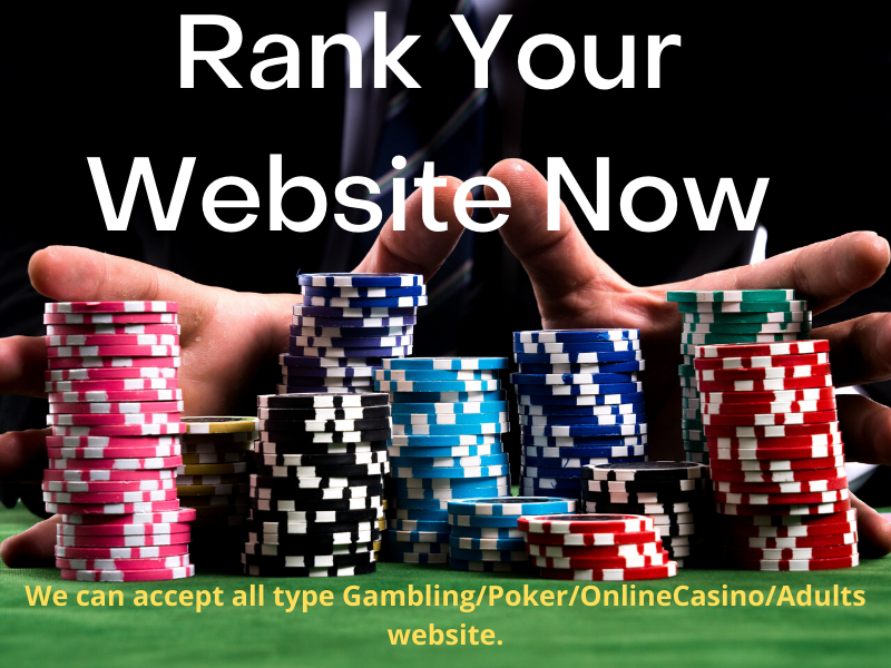 650 Poker and Sport Betting Gambling and adult and Casino Mix SEO Backlinks Service