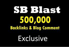 500,000 power Blog commet Backlinks On High Da Pa for website ranking