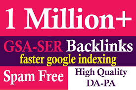 I will do 1 Million SEO service quality backlinks to rank website