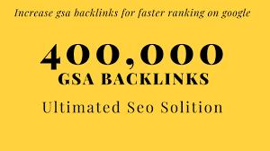 I will Build 400,000 high authority quality SEO dofollow backlinks
