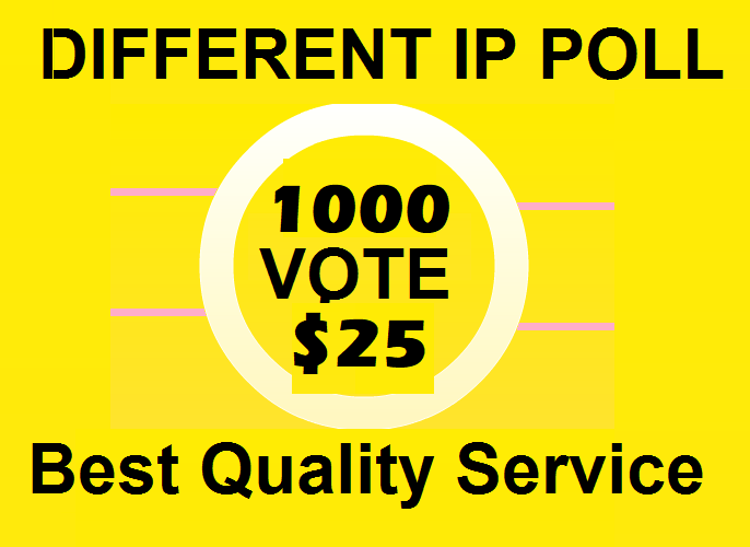 Bring 1000 Different IP votes on your online contest