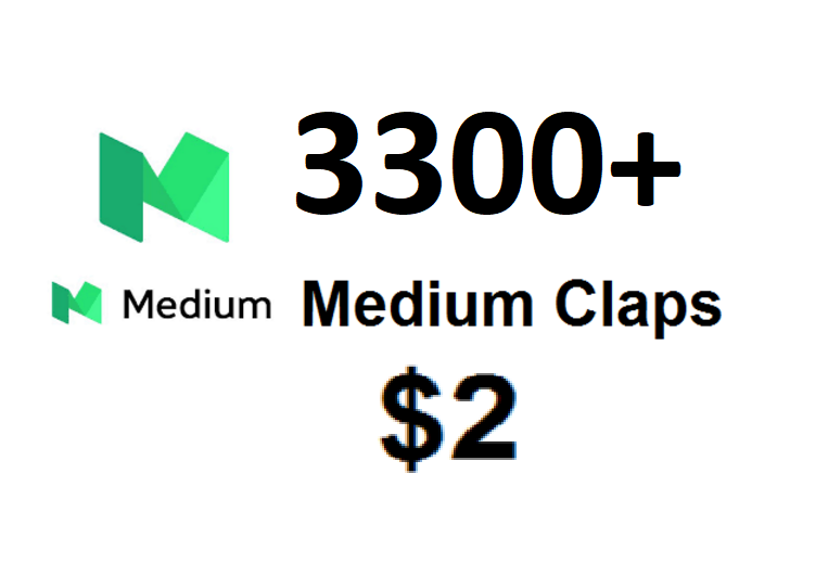 Get 3300 Medium claps to your article post