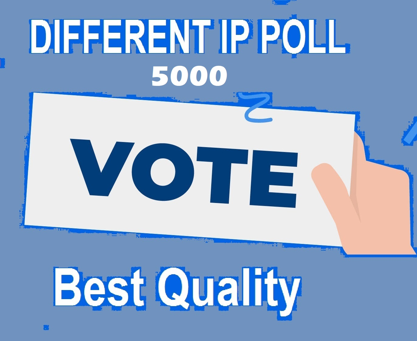 5000 Different IP votes on your online contest to improve