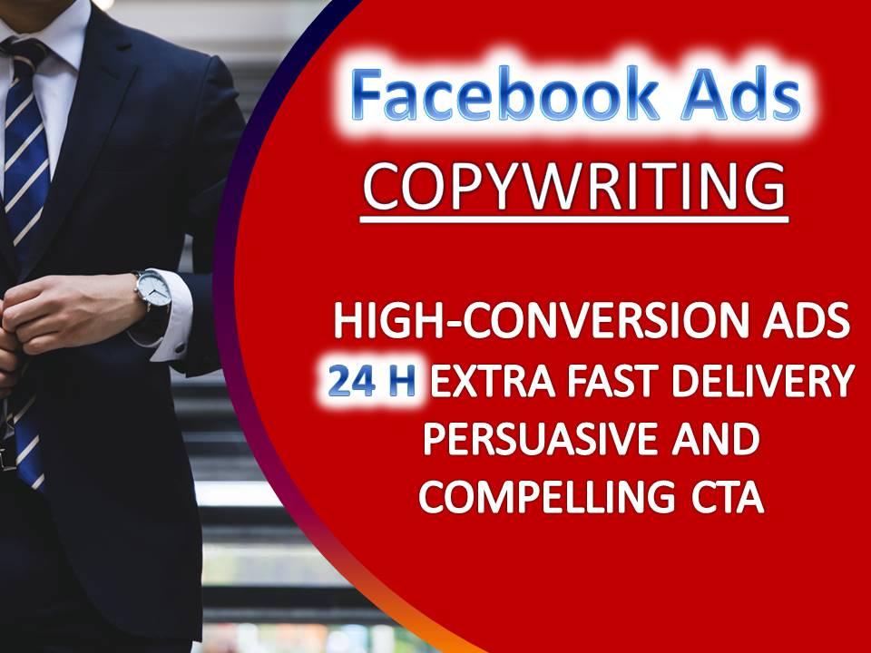 I will write persuasive high conversion facebook ads copy