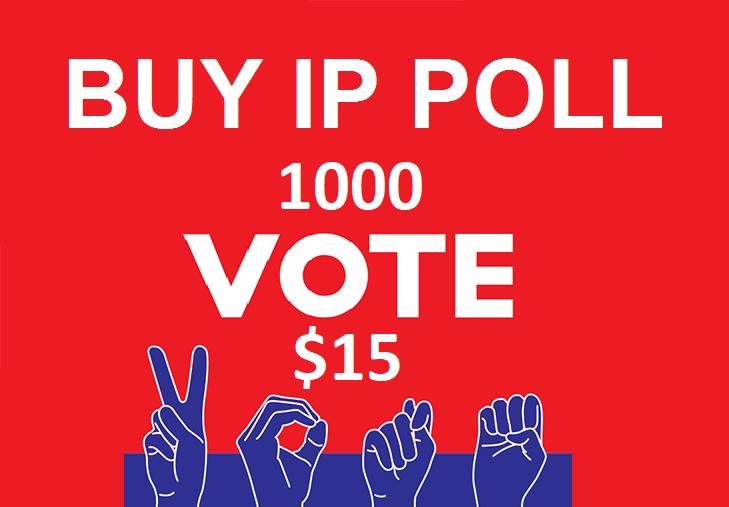 Orde 1000 USA Different IP,  s Online contest Votes Polls