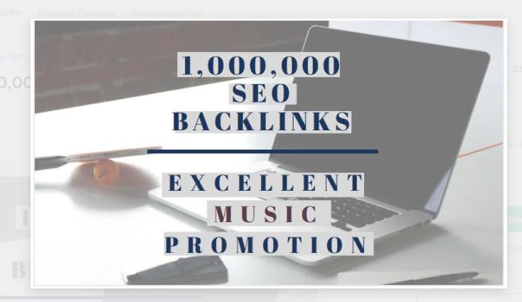 I will make 1,000,000 SEO backlinks for music promotion