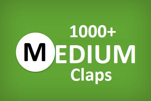 Get you best 1000+ Medium Claps on your Medium Article medium