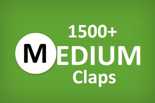 Get you best 1500+ Medium Claps on your Medium Article medium