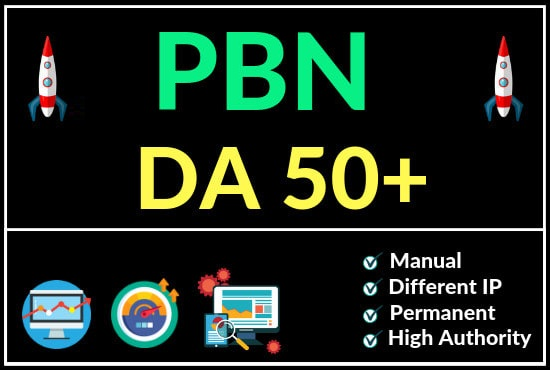 4 DR 60+ homepage permanent PBN Backlink
