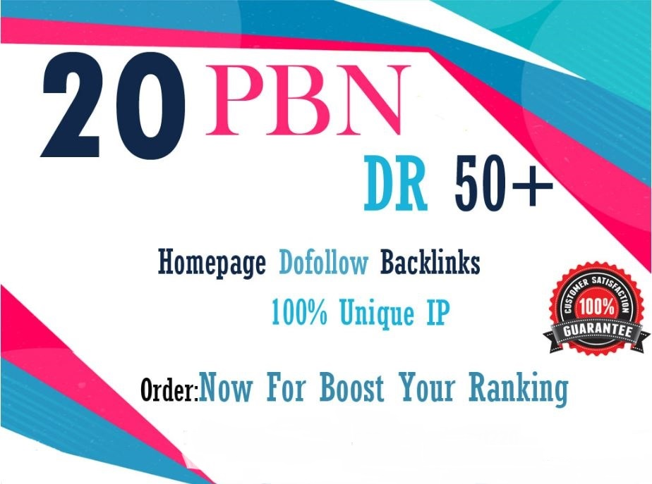 20 DR 50+ homepage permanent PBN Backlink