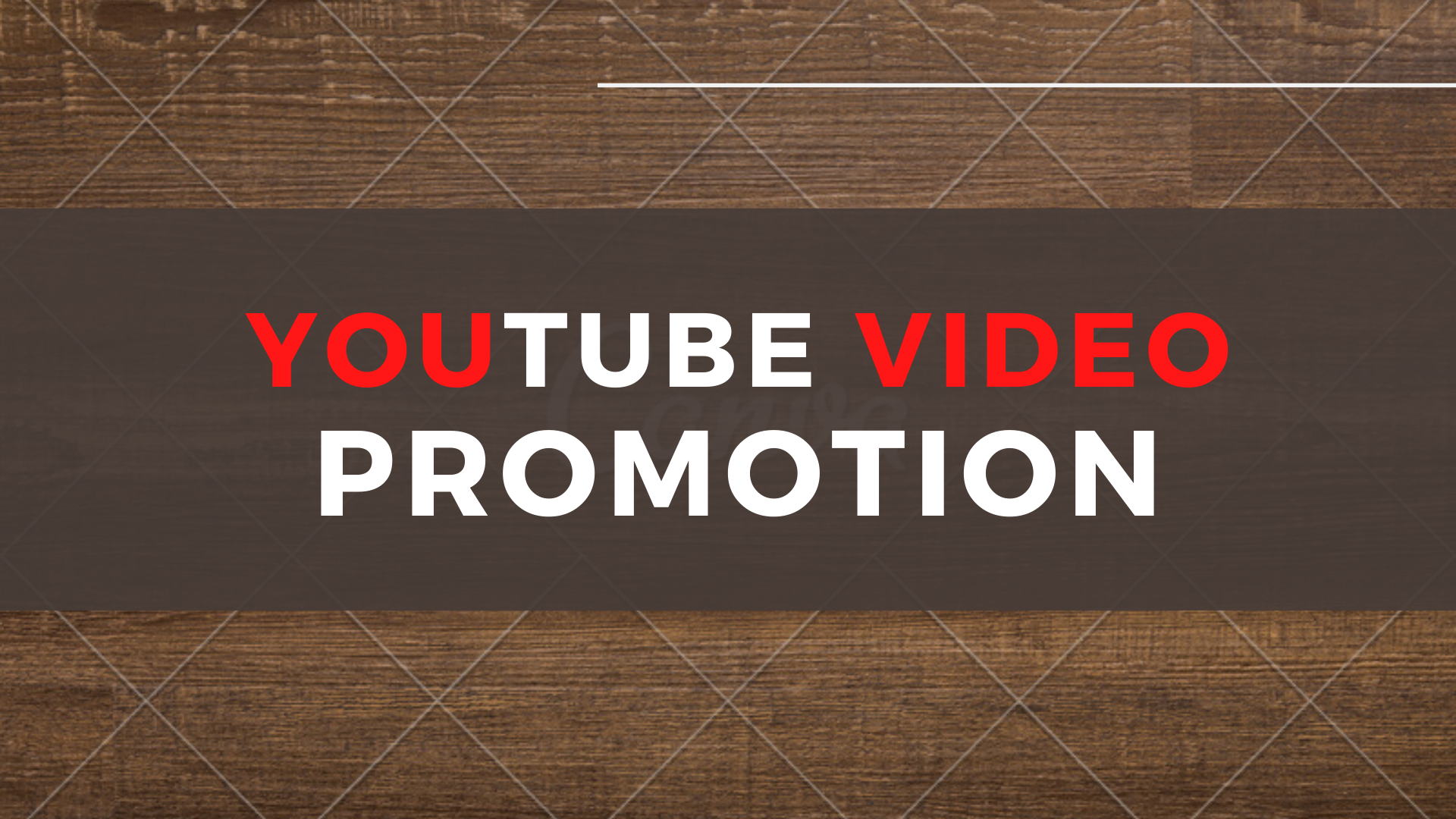 I will do youtube video promotion and seo backlinks for video ranking