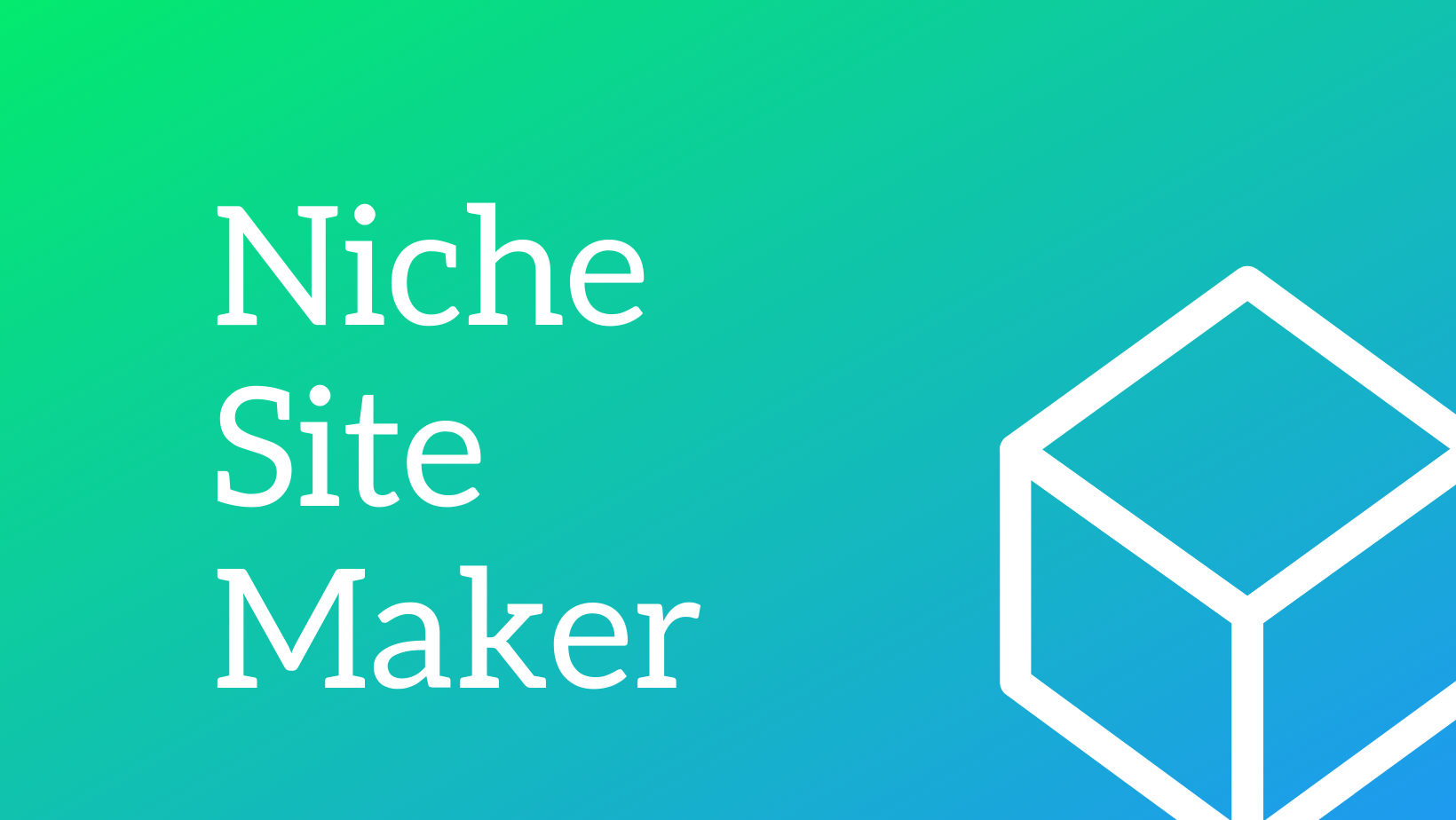 Niche Site Maker - Simply build niche affiliate websites